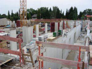 Bauarbeiten im August 2010