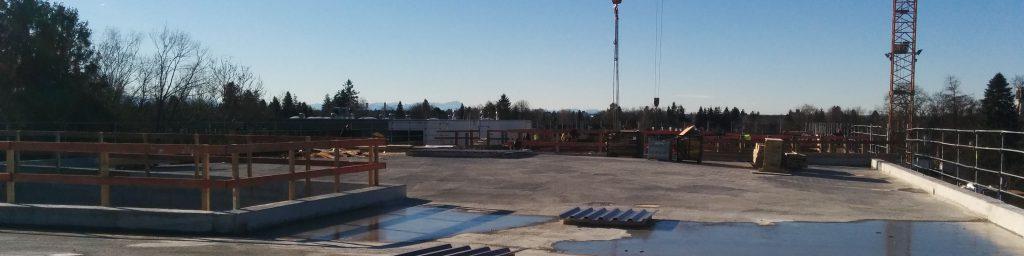 Dachbereich des Neubaus